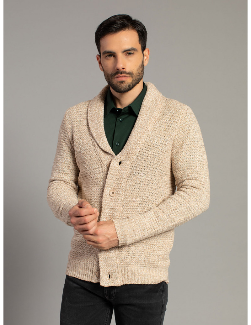 Cardigan con collo largo