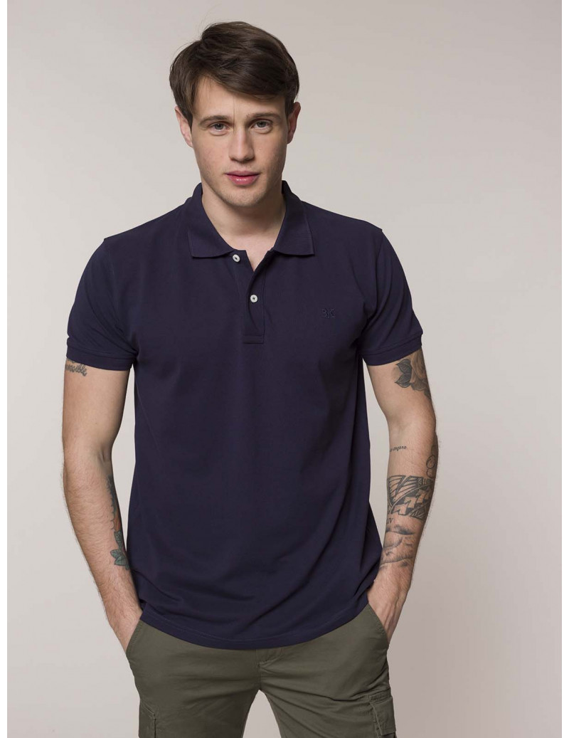 Polo in cotone SUPIMA® Blu